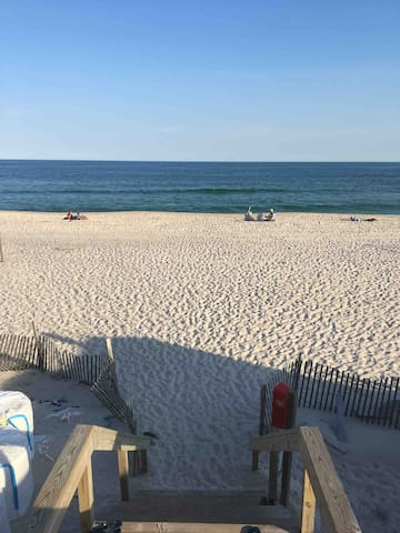Just a 3-minute walk to the beach. We provide beach chairs, towels, and boogie boards.