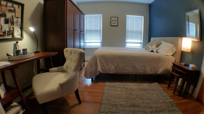 Davis/Porter Sq : spacious, comfortable bedroom