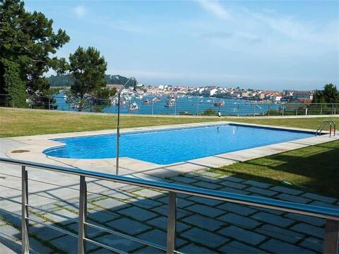 Apart. excelentes vistas y piscina Illa de Arousa