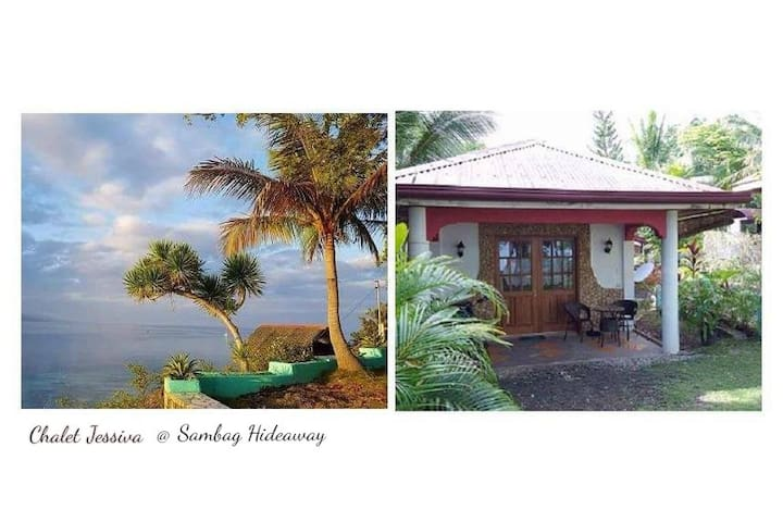 The ocean view and bungalow