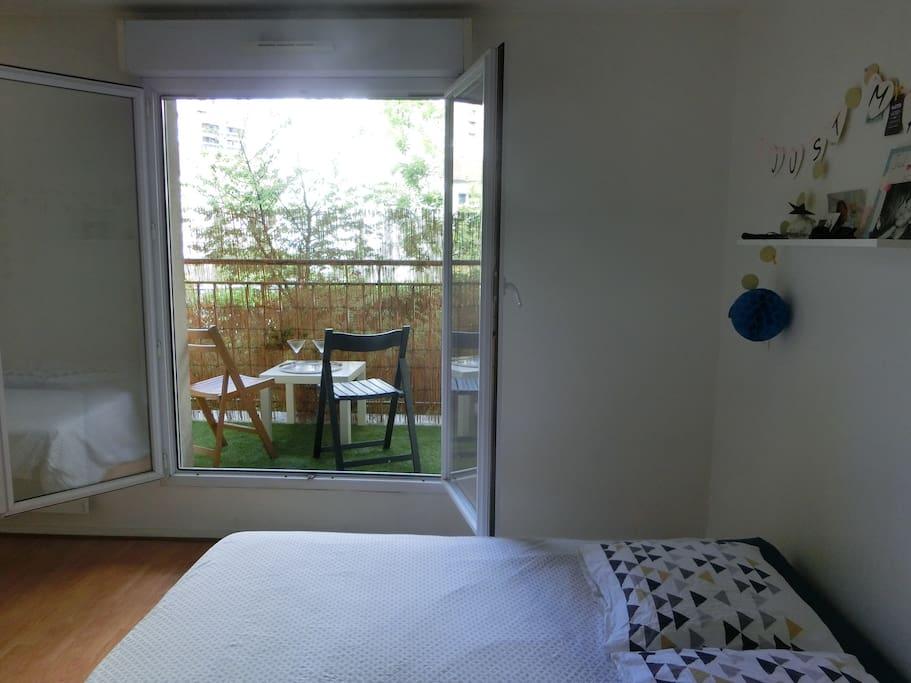 Chambre 1 avec accès terrasse