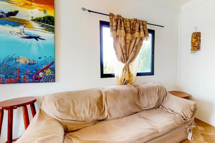 Upper-level resort apartment w/ great views, WiFi, AC, shared pool/grill/rooftop