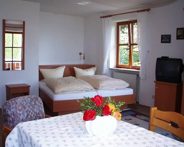 Baumanns Ferienhof am See, (Wasserburg (Bodensee)), Ferienwohnung 1, 30qm, 1 Wohn-/Schlafzimmer, max. 2 Personen