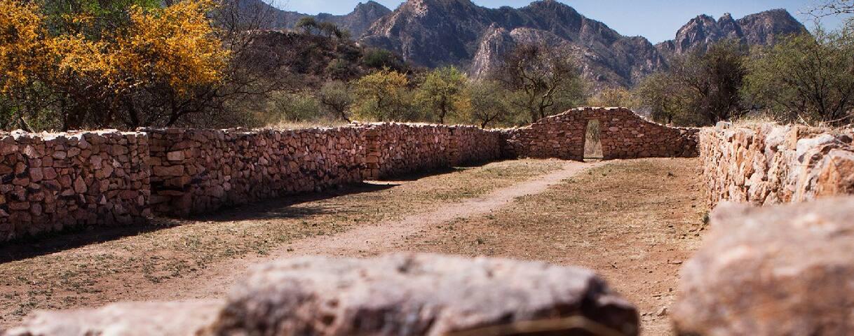 Habitación compartida en sitio arqueológico único