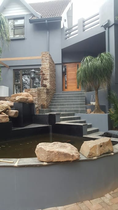 Front Entrance and Koi Pond