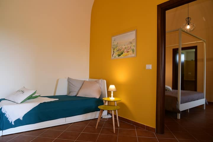Family suite near Etna, Taormina, the sea