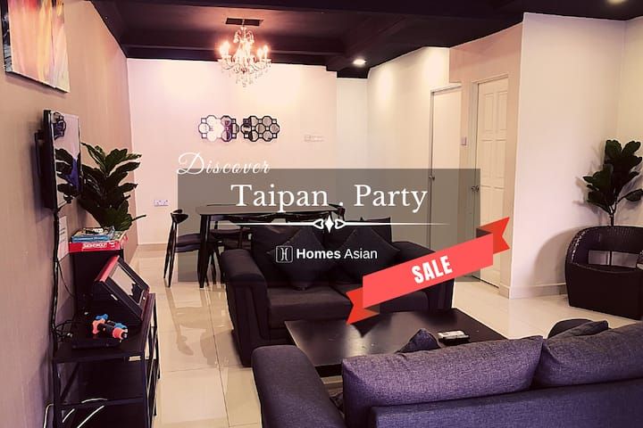Spacious CELEBRATION House with KARAOKE.TaipanU192