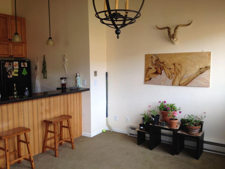 Breakfast Bar and Indoor Garde