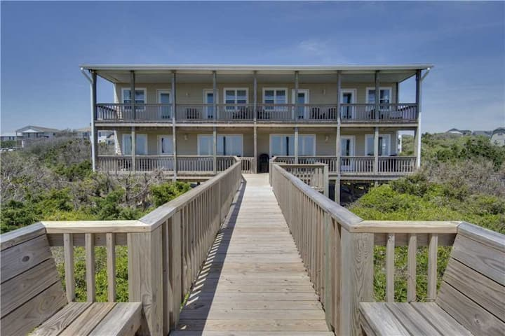 New! Oceanfront Oasis with double covered porch