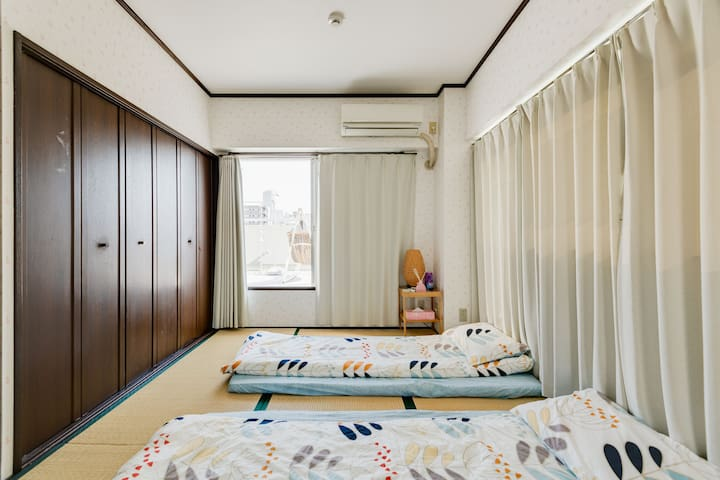 房间4、榻榻米房间、最大可以睡4个人