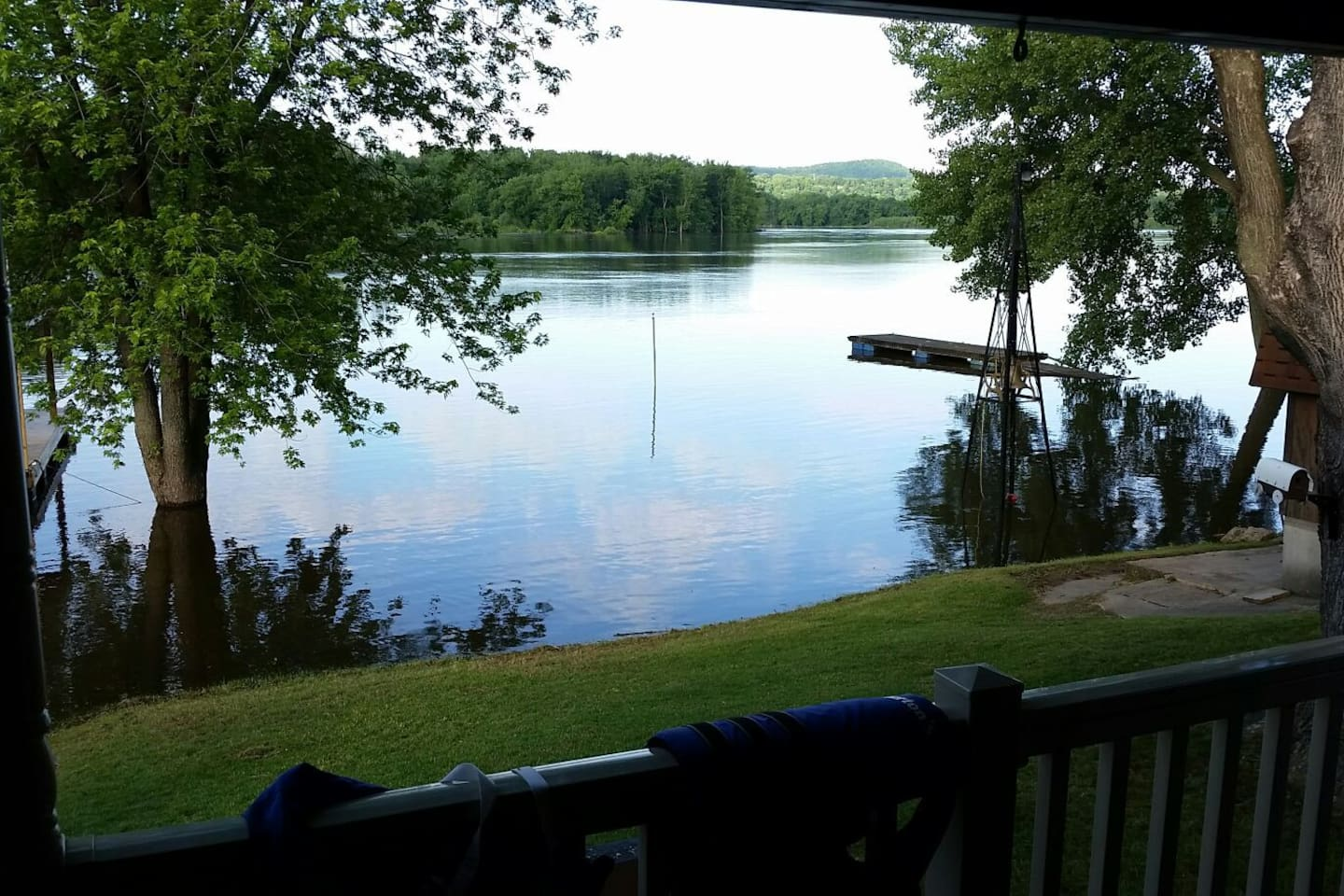 View from back porch of Jack Oak Slew on the Mississippi River.