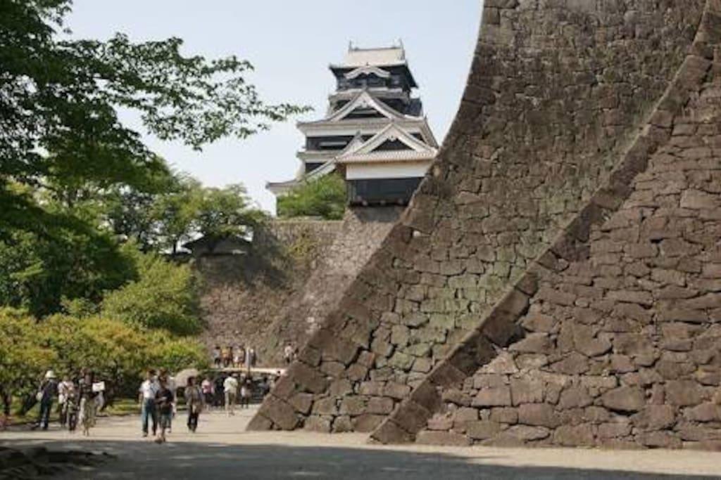 熊本城 歩いて10分