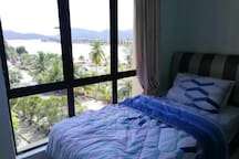 Jaw-dropping Pangkor Island's view from bedroom 2