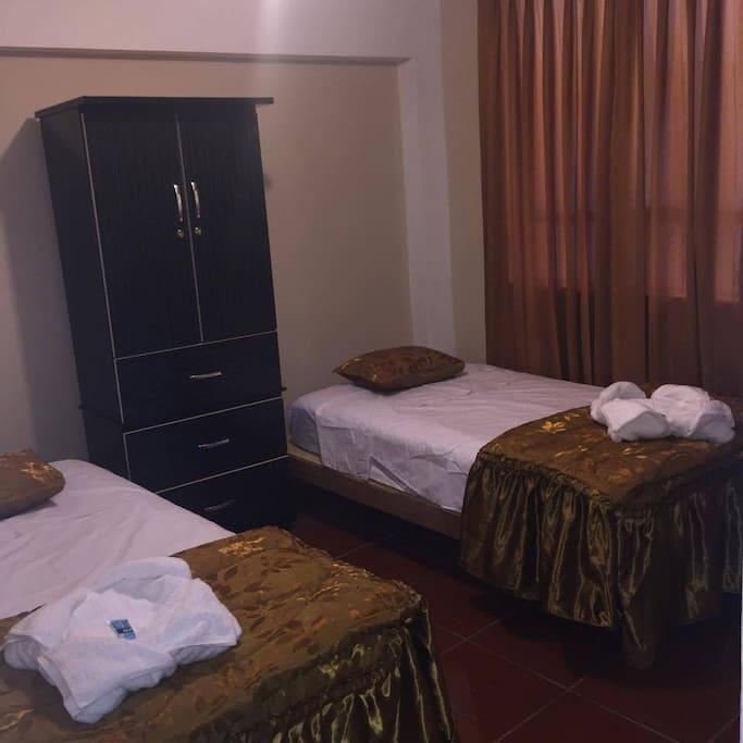 Habitaciones cómodas y limpias.
