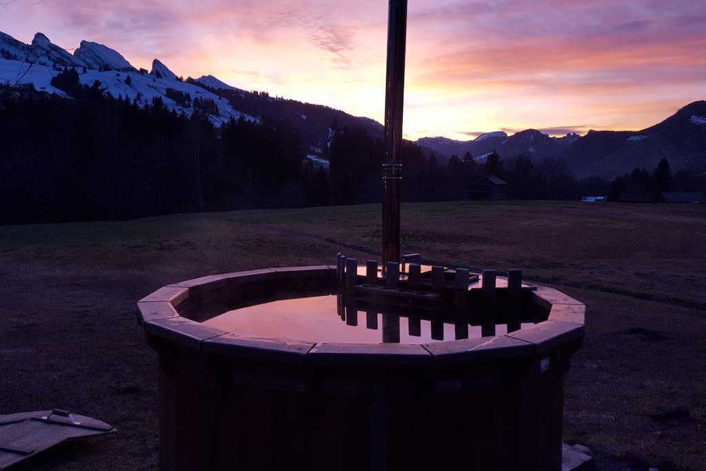 Hot Pot bei Abendstimmung