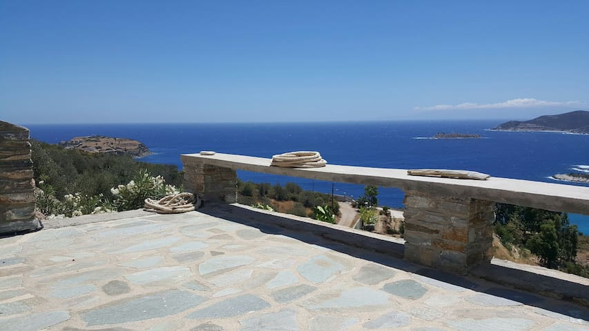 Aegean Blue Panorama House - Κλιμάκι - Hus