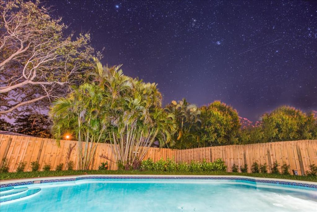 Light up the pool at night under the stars!