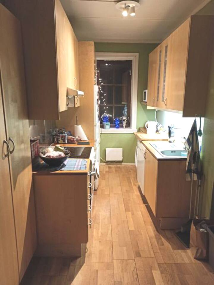 Narrow but comfortable room 😊
