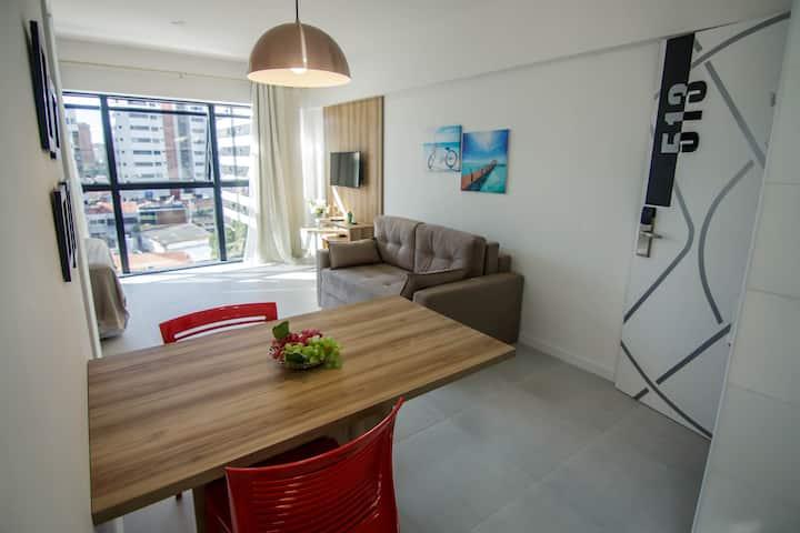Apartamento Flat Ponta Verde - Maceió. Ed Time 513