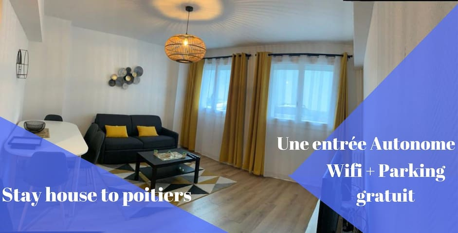 Appartement city stay Poitiers*WIFI*parking