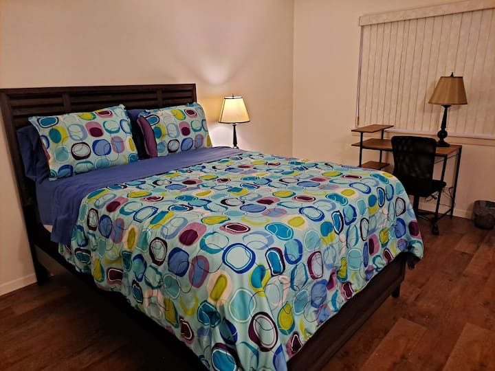 In Room Work Space! Super Fast WiFi! Book Now!