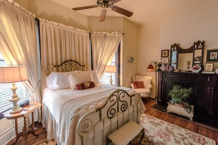 Isabel's Room has a queen bed, private bath and is located on the second floor.