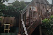 Cabin 1 - cooking area/Braai/BBQ between cabins