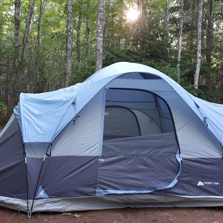 """(Tent Included) """"hassel free Camping"""""""