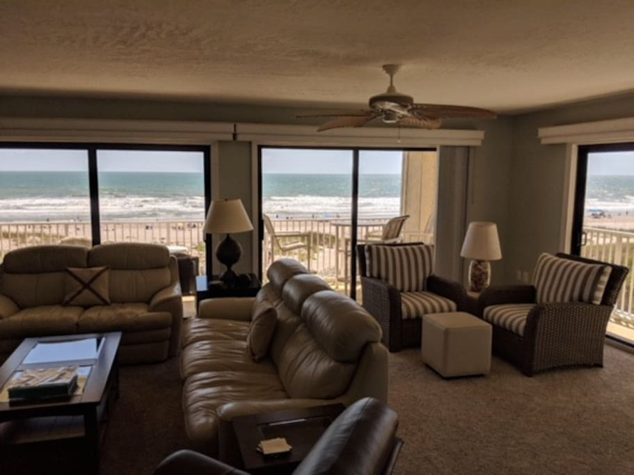 Living Room looking out to the Atlantic Ocean!