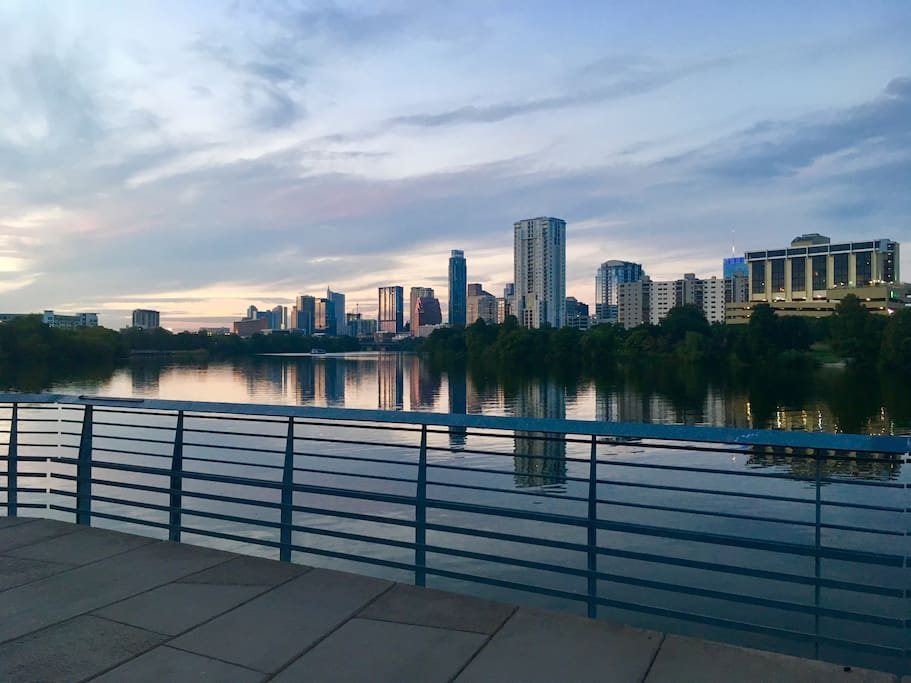 10 min walk to the lake! I took this picture on my evening jog tonight :)