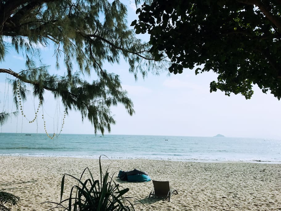 Cheung Sha Beach is right in front of you!!