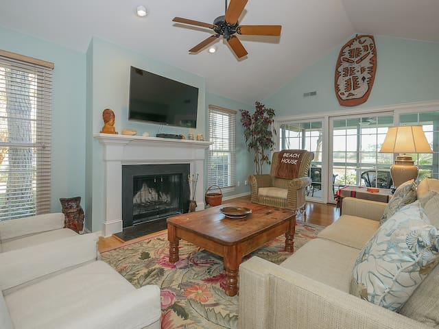 32 Lands End Road - Great views await from the charming, rustic spacious living room, located near South Beach Marina