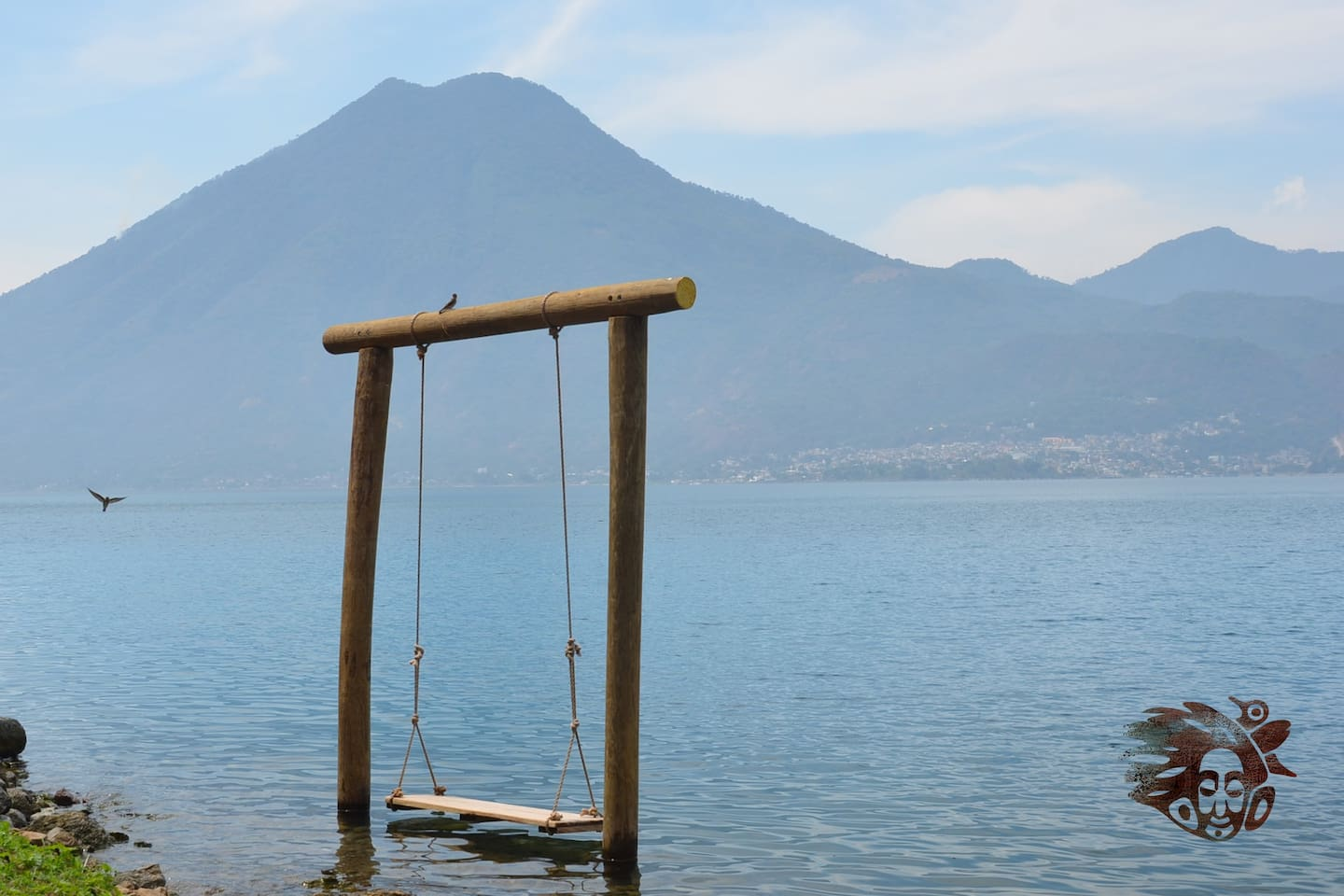 Swing in the lake and enjoy the view