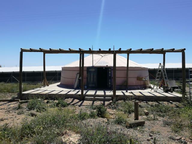 Un pequeño espacio en nuestra Yurta - El Ejido - กระโจมทรงกลม