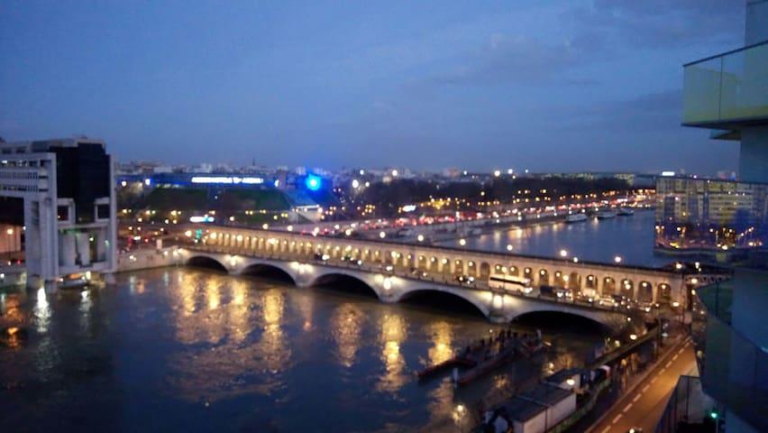 Bel Appartement grand balcon avec vue sur la Seine
