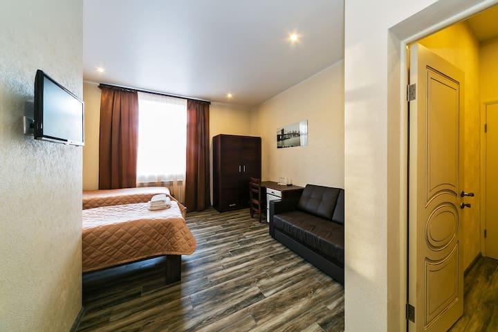 Уютная комната с 2 раздельными кроватями + завтрак - Булатниково Снт (булатниково) - Bed & Breakfast