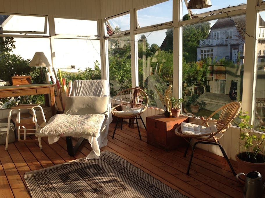 Daybed in the wintergarden- perfect for relaxtion