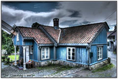 The little blue house.