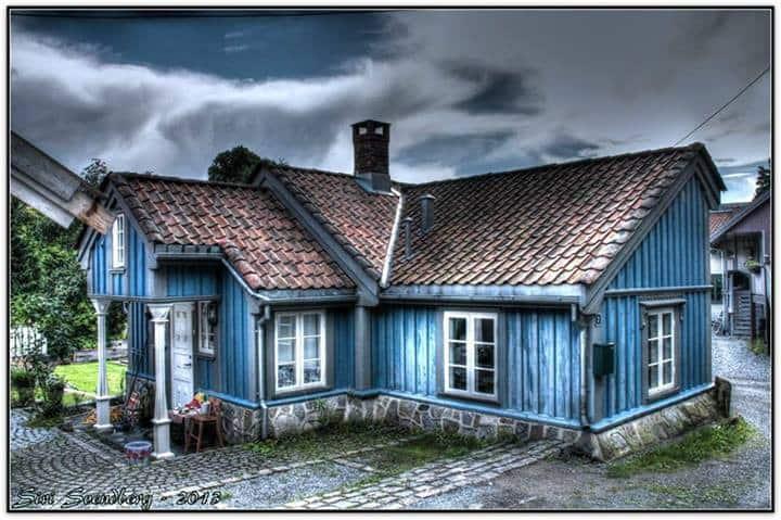 Det vesle, blå huset.