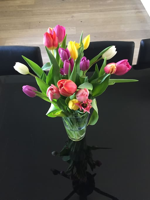 We always welcome you with fresh flowers
