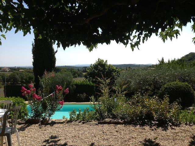 Maison de charme, vue superbe, piscine chauffée - Durfort-et-Saint-Martin-de-Sossenac - Hus