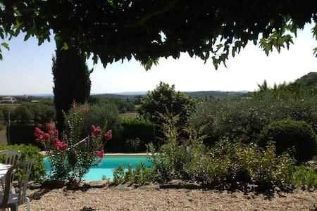 Maison de charme, vue superbe, piscine chauffée - Durfort-et-Saint-Martin-de-Sossenac - Huis