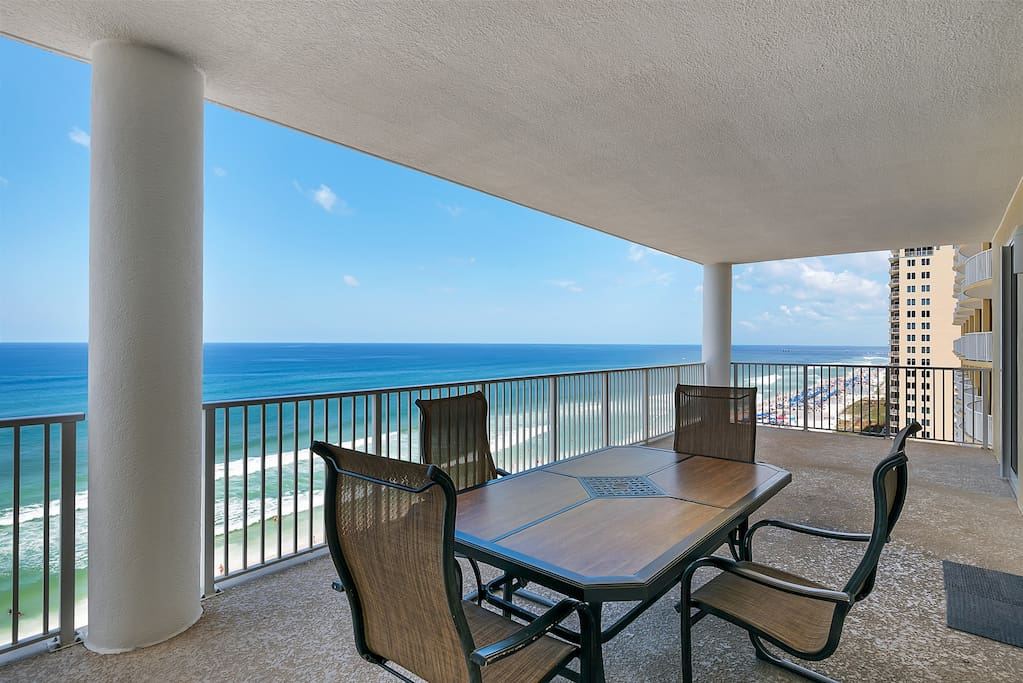 Experience the BIGGEST balconies on the beach at Ocean Ritz