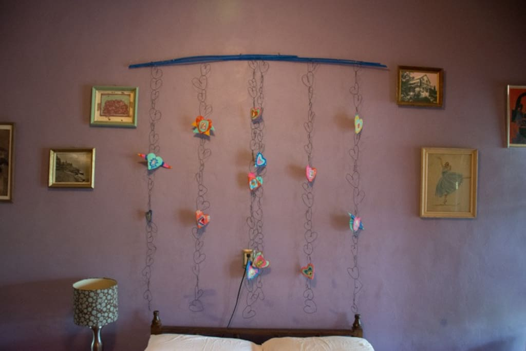 A beautiful, peaceful room with artistic flair, and in an idyllic setting. --Julia
