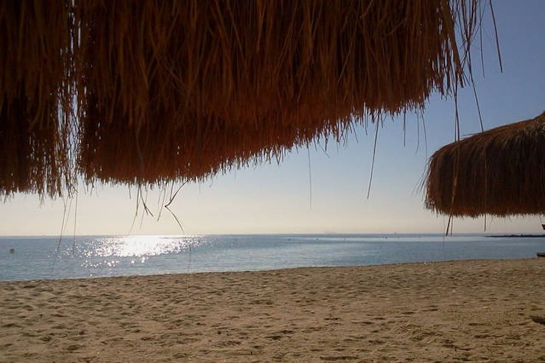 Sandy beach, sea swim is fun 10 months/year
