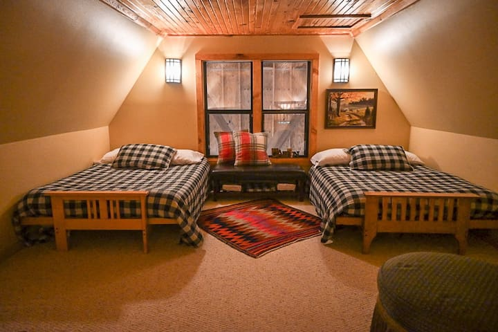 Upstairs two full futons beds