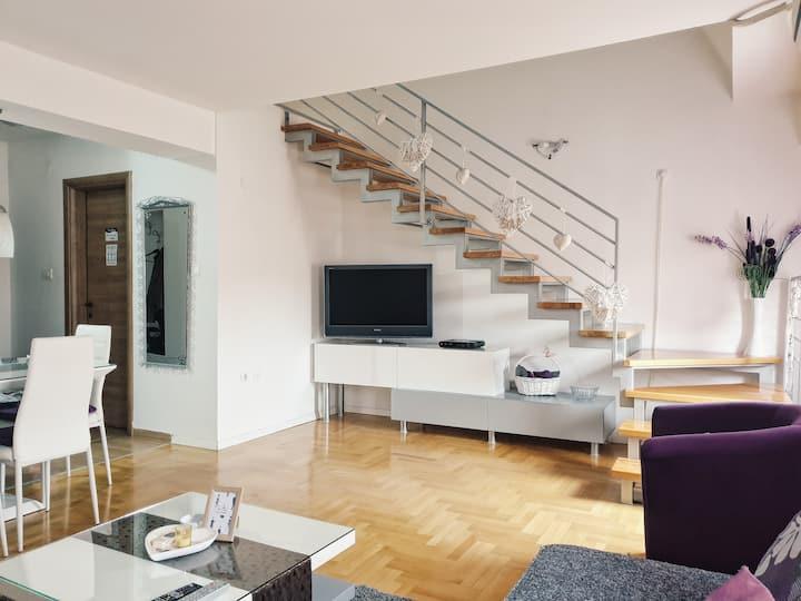 Modern apartment on two floors 80m2