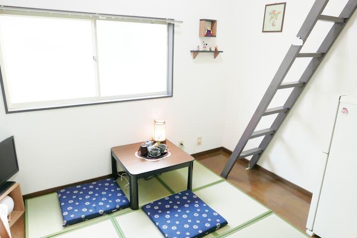 FUEL INN-cozy room  3mins to Tojinmachi station