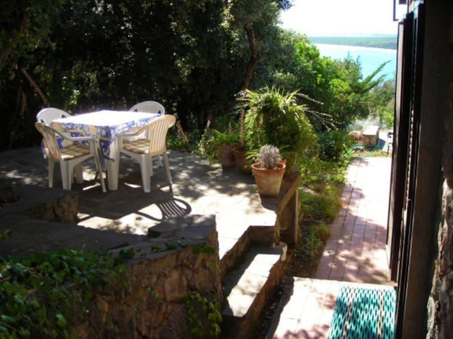Terrasse bei der Kueche Terrace by the kitchen Terrazza vicina alla cucina