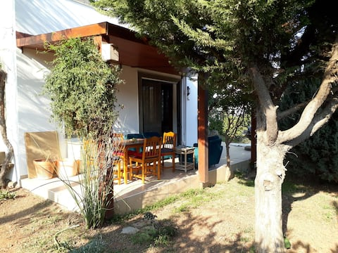 Villa with garden in Kızılağaç Village
